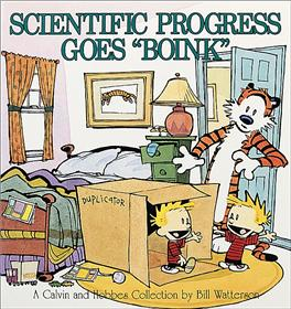 "CALVIN & HOBBES Scientific Progress goes ""Boink"""
